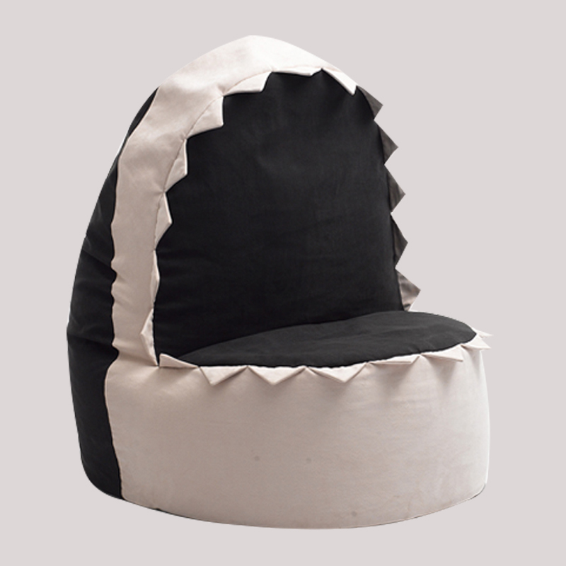 FREE SHIPPING 707080cm Shark Beanbag Sofa Cover Velvet Easy Cub Bean Bag Chair Via China Post Air Mail Without Filling In Living Room Chairs From