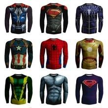 Quick Dry 2016 Men Compression Supermen Iron T Shirt Harajuku Clothing Skate Tshirt Homme Polera Batman Funny T-shirt