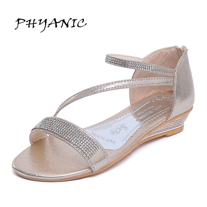 PHYANIC Women Shoes Sandals Comfort Sandals Summer Flip Flops 2017 Fashion High Quality Flat Sandals Gladiator Sandalias PHY5113 phyanic summer style shoes woman 2017 new gladiator sandals platform flats fashion creepers women flat shoes 3 colors phy4044
