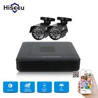 Hiseeu 4CH DVR CCTV System 2PCS 1 0 MP IR Outdoor Security Camera 720P HDMI AHD