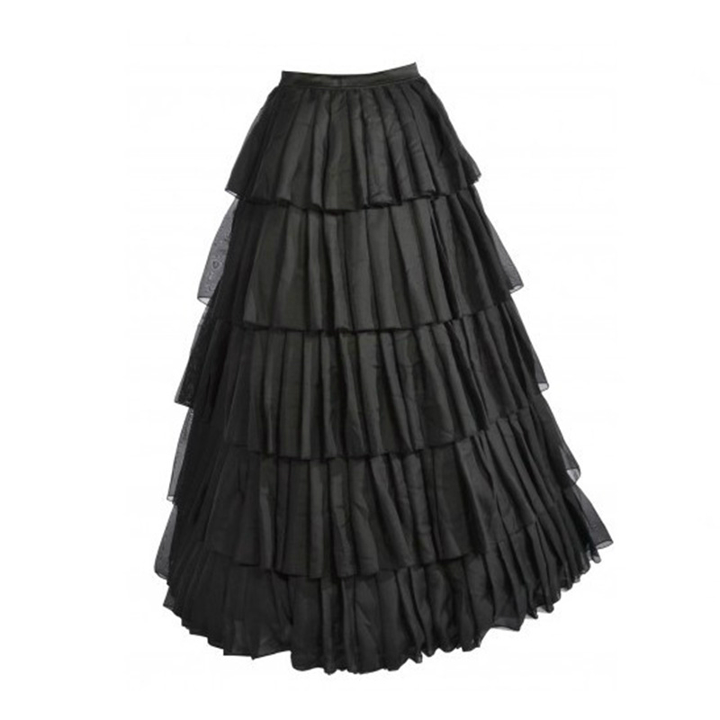 MOONIGHT Formal Chic Hot Black Floor Length Long Skirts For Women To Formal Party Long Skirts Fashion Style Custom Made