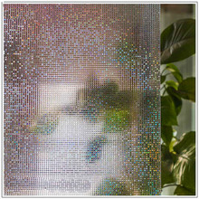 30*200 cm Color mosaic pattern Opaque Frosted Window Films Vinyl Static Cling Self adhesive Privacy Glass Stickers