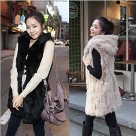 Women's Clothing Adaptable Newest Faux Fur Imitation Rabbit Hair Fur Waistcoat Tops 2018 Popular Faux Fur Hooded Vest Winter Warm Coat Outwear Attractive And Durable