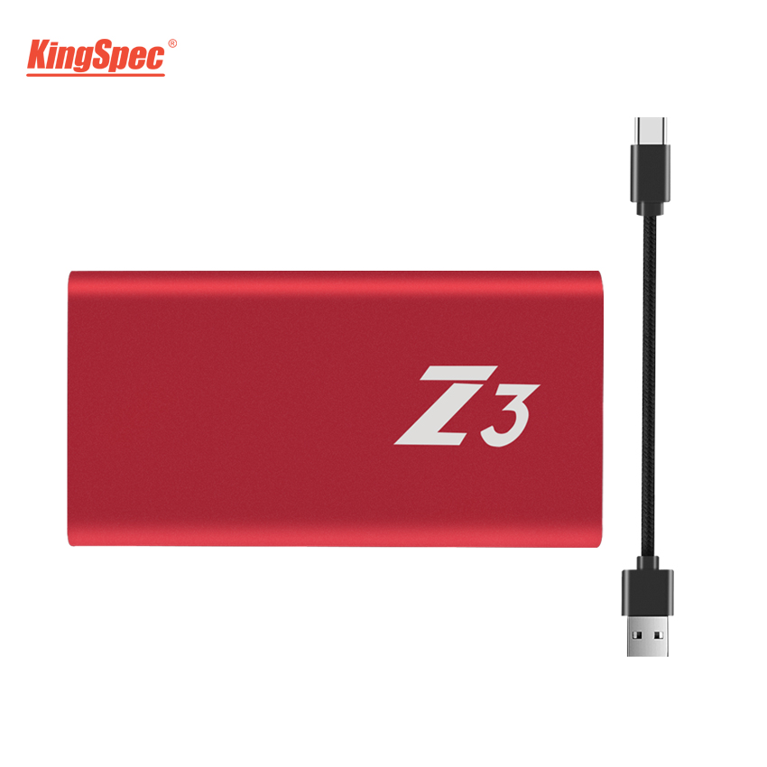 KingSpec Type-C USB 3.1 Portable ssd 256gb hdd External Harde Drive usb flash disk 256 GB With USB3.1 Interface for desktop PC image