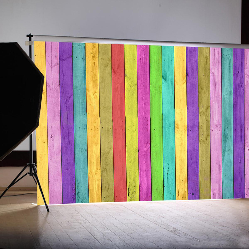 Mayitr 1pc Colorful Photograph Backdrop Wood Floor Studio Photo Vinyl Background Props For Photography Parties Bars 90cm x 150cm 10ft 20ft romantic wedding backdrop f 894 fabric background idea wood floor digital photography backdrop for picture taking
