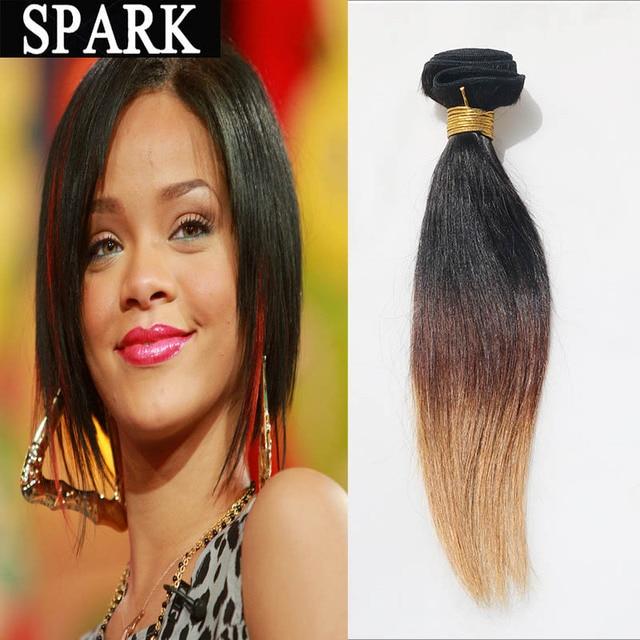 Short Human Hair Weave Ombre Brazilian Virgin Hair Straight Cheap Wet Mink  Thick Women Wigs Kinky Straight 1pc lot L Hair 2bc5c451ee
