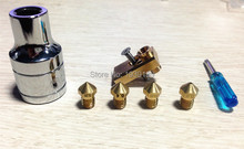 Ultimaker 2 + UM2 + Extended Olsson Block Pack heatend hotend nozzle with tools for 3.00mm filament 3D printer DIY part 3d printer part olsson block nozzle pack complete hotend jennyprinter ultimaker 2 um2 extended 1 75mm fast delivery