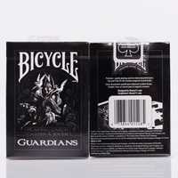 1set Bicycle Guardians Playing Cards By Theory11 Black Magic Cardistry Deck Guardian Magic Trick Playing Card