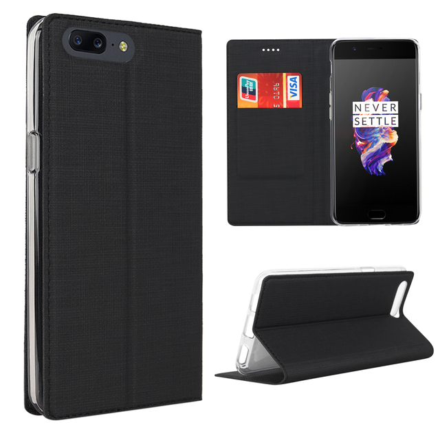 new concept d733d 8c801 US $12.59 37% OFF|Multi function Oneplus 5 Phone Case PU Leather Bumper PC  Wallet Case Cover For Oneplus 5 Stand Magnetic Flip Phone Cover-in Flip ...