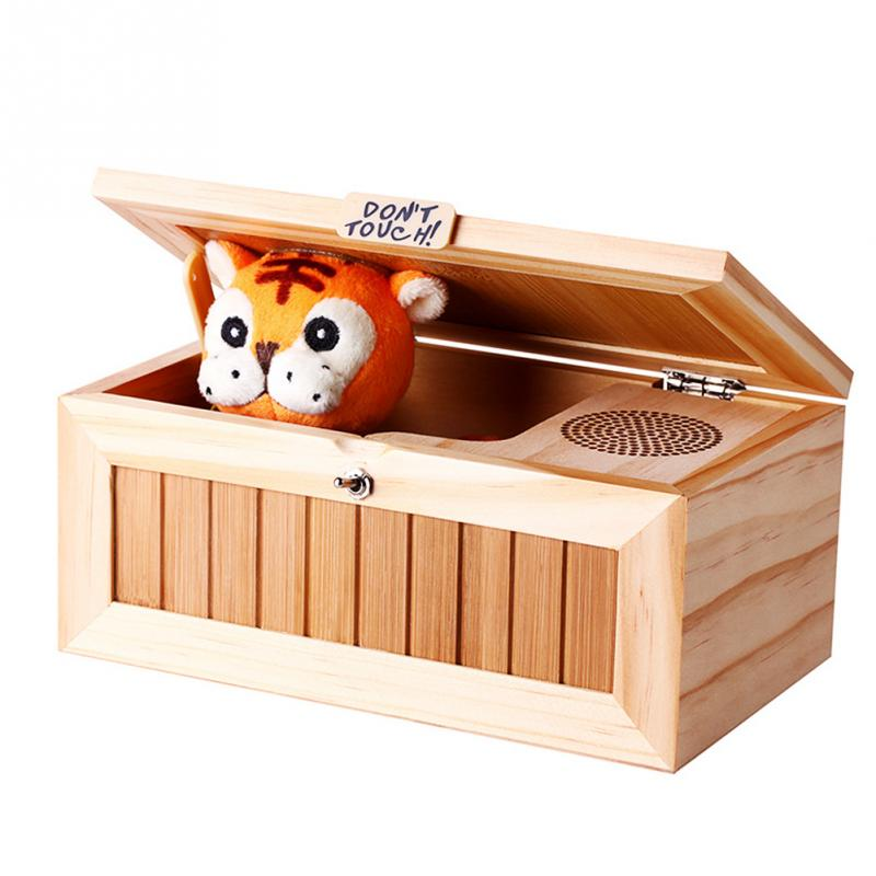Funny Cute Tiger Doll Box Funny Talking Box Children Anti-boring Anti Stress Toy