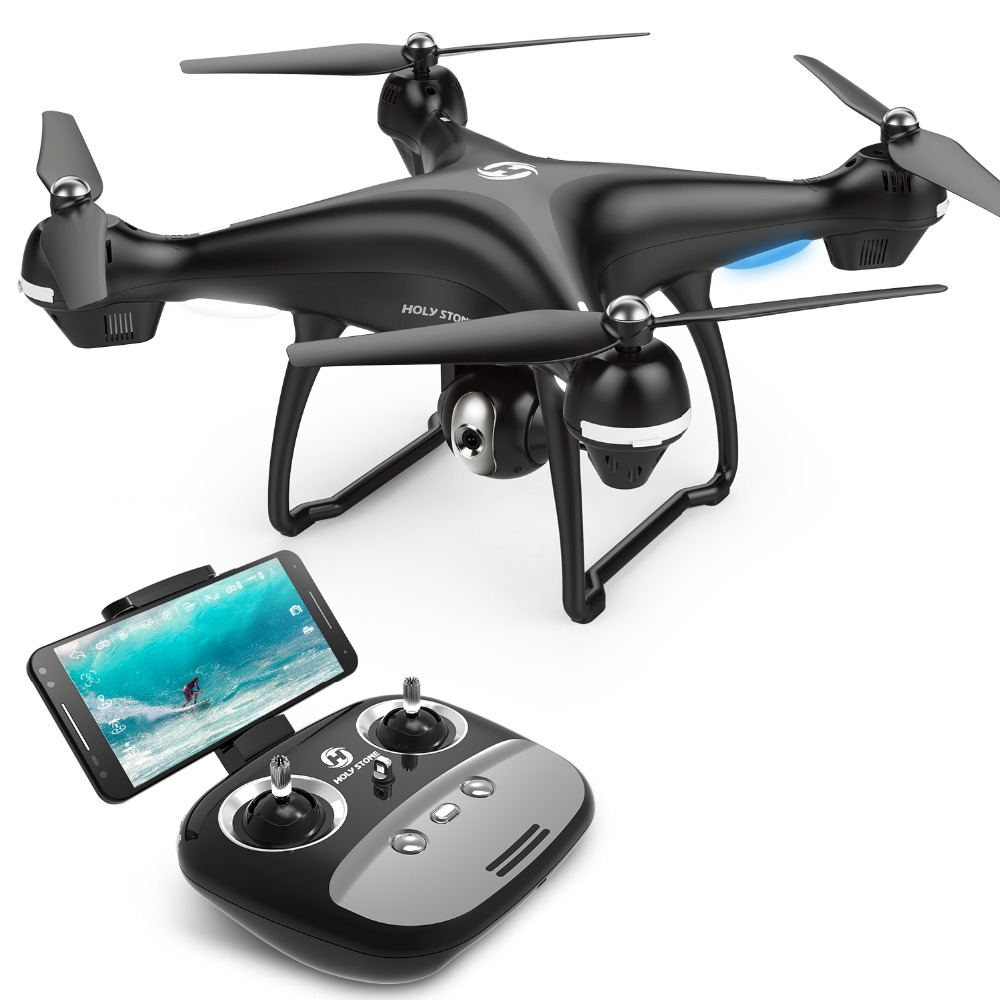 [UE USA Stock] Saint Pierre HS100 GPS FPV drone rc Grand Angle 720 P 1080 P Wifi Caméra FPV long Fly 7.4 V 2500mA batterie APP Contrôle