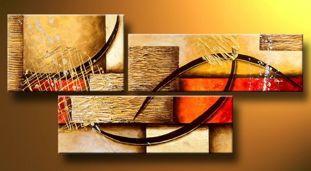 Buy multi piece 3 panel wall art abstract for Art painting for home decoration