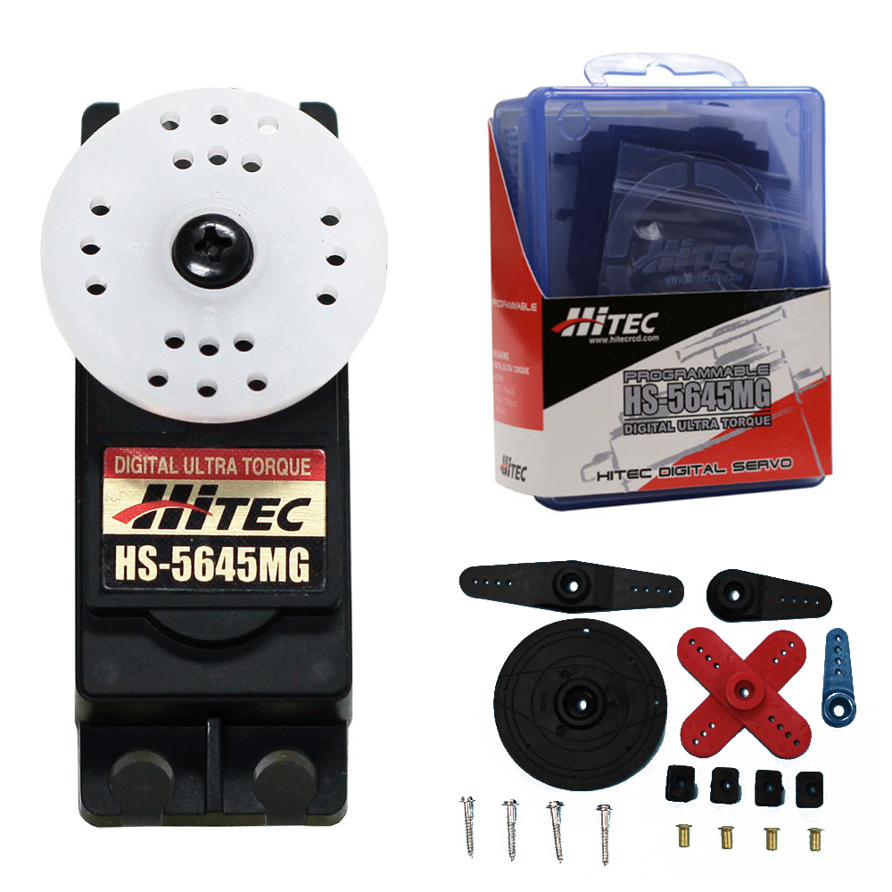 1pcs 100 Hitec HS 5645MG high torque metal gear digital servo 0 18S 12 1KG 4