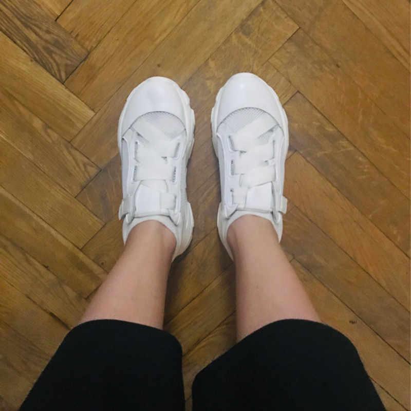 COOTELILI Frühling Frauen Turnschuhe Atmungsaktive Frauen Flache Plattform Schuhe Frau Casual Creepers Frauen Schuhe
