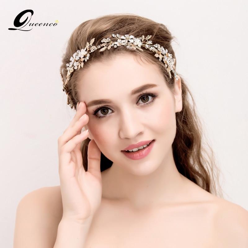 Us 14 86 50 Off Tiara Wedding Hair Accessories Handmade Bridal Headband Fashion Gold Jewelry Bride Tiaras Headbands For Women Ali Moda Hair In Hair