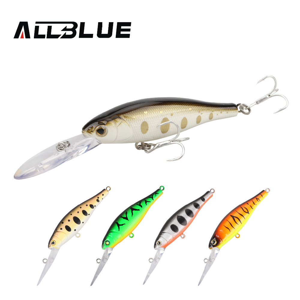 ALLBLUE Suspend Fishing Lures Shad Minnow 90mm 7g 2.5M Artificial Bait Plastic 3D Eyes Wobbler Bass Lure Fishing Tackle peche nils master baby shad 5cm vertical jigging ice fishing lures