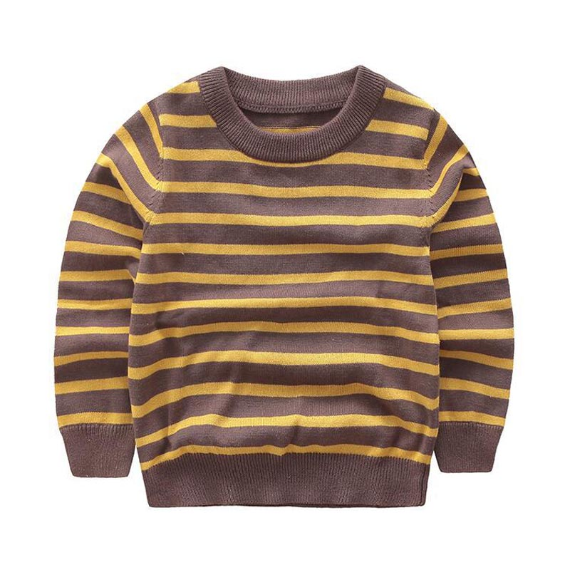 Sweatshirt Boys Baby Boy T Shirts for Kids Clothes 100% Cotton Yellow Stripes Children T-Shirts Toddler Boy Clothing for 3-7Y
