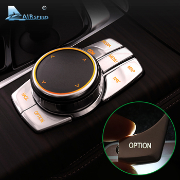 Airspeed for BMW 5 Series G30 528i 530i 540i Accessories Car Multimedia Buttons Cover Decal ABS Interior Decoration Car Styling 1