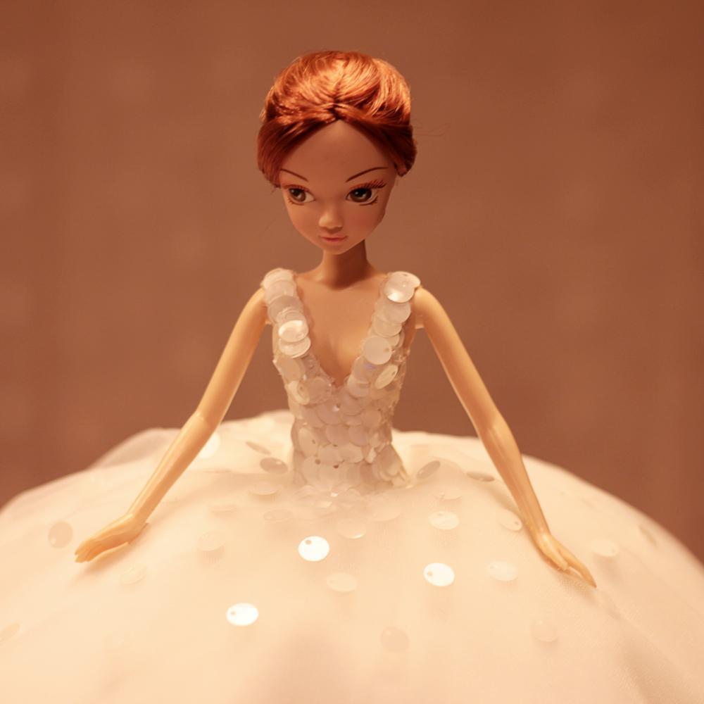 D0374 Best girl gift 50cm Kurhn Princess Doll with large wedding dress Gift Luxury Dress set handemade Romantic Bride