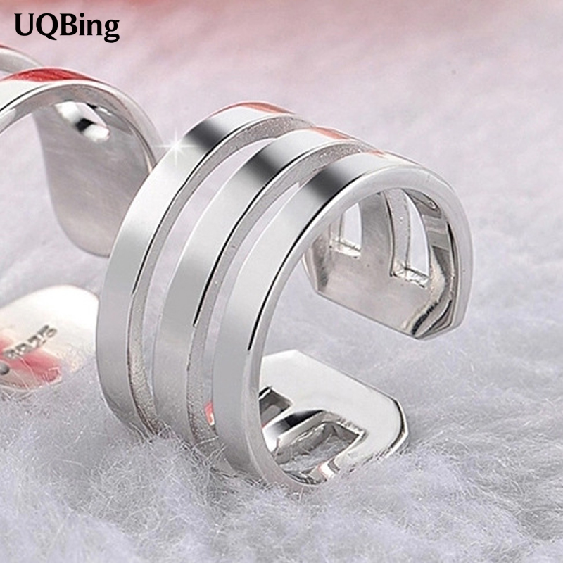 Drop Shipping Hot Unique Ring Sterling 925 Silver Rings Open Rings For Girl Women Gift Jewelry Tell 2 Or 3