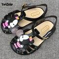 Diseñador barato niños sandalias de verano sandalias de los niños niñas minnie mouse deporte cartoon garden shoes cute kids falt sandalias venta