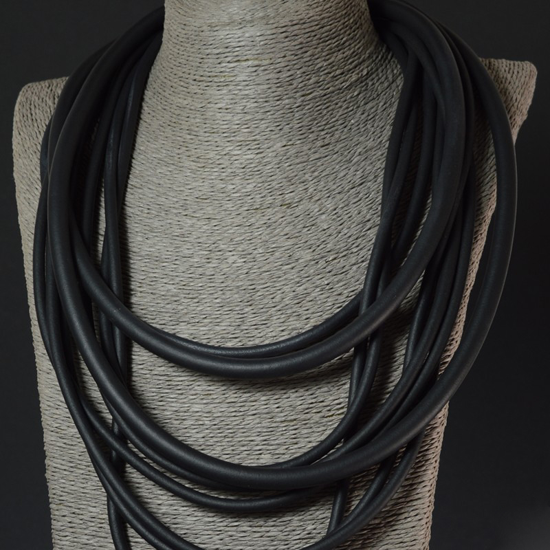 Купить с кэшбэком YD&YDBZ 2019 New Punk Jewelry Women Pendant Necklaces Fashion Handmade Jewellery Rubber Rope Bohemia Choker Necklace Wholesale