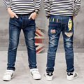 New Year, hildren's clothing autumn trousers children baby pants Slim Personality Boys jeans, boys ripped jeans