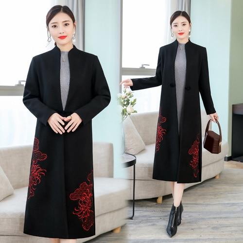 De Taille Manteau Grande 2019 Laine Yiciya 5xl Noble Survêtement Longue Noir Oversize Élégant Femmes Veste Hiver Vêtements Manteaux En Femelle A1qnEwpS
