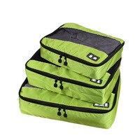 3 teile/satz Kleidung Verpackung Würfel Reisetasche für Shirts Hosen Bekleidungs Taschen Gepäck Organisatoren Necessaire