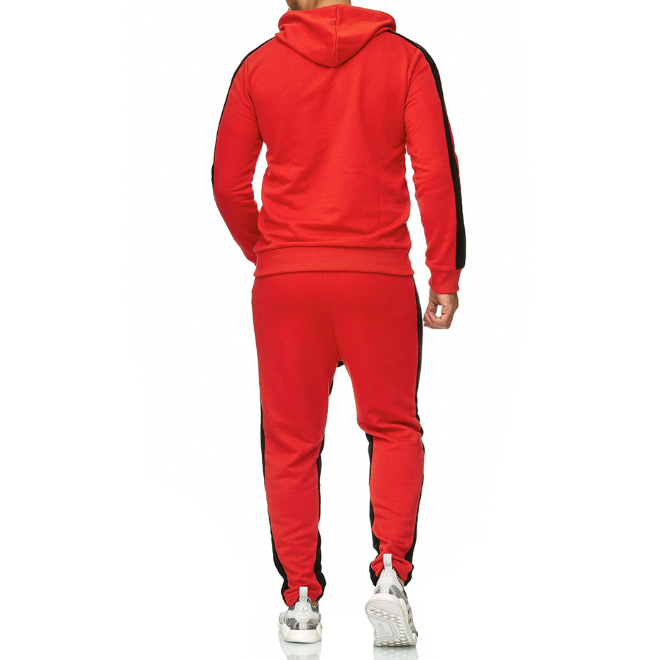 Zogaa Brand Men Sweat Suit Set Gyms Bodybuilding Workout Clothing Two Piece Set Outfits For Man Sportwear Casual Men Tracksuit