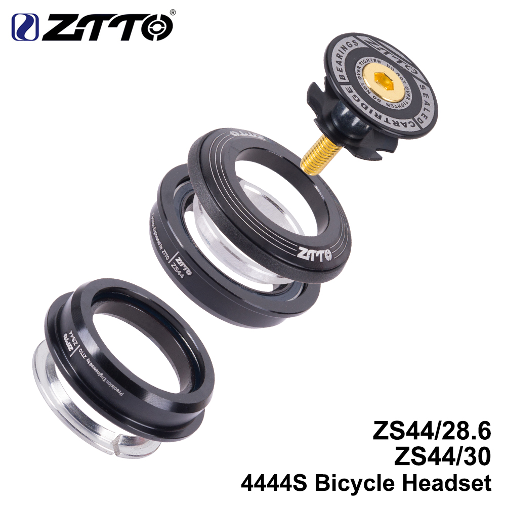 ZTTO 4444S MTB Bike Road Bicycle Headset 44mm 44mm CNC 1 1/8 28.6 Straight Tube fork Internal ZS44 SEMI-INTEGRATED Headset mtb mountain bike bicycle frame 26 x 17 inch al6069 for bike headset 44mm glossy for headset 44mm