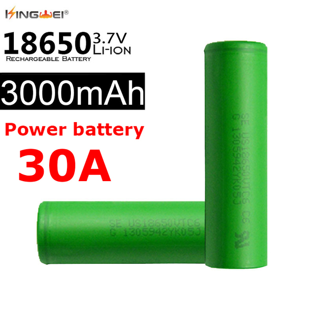 US $39 91 30% OFF 4 Pieces High Power 30A 3000mAh For SONY VTC6 Power 18650  Batteries Li ion 3 7v Rechargeable Battery-in Replacement Batteries from