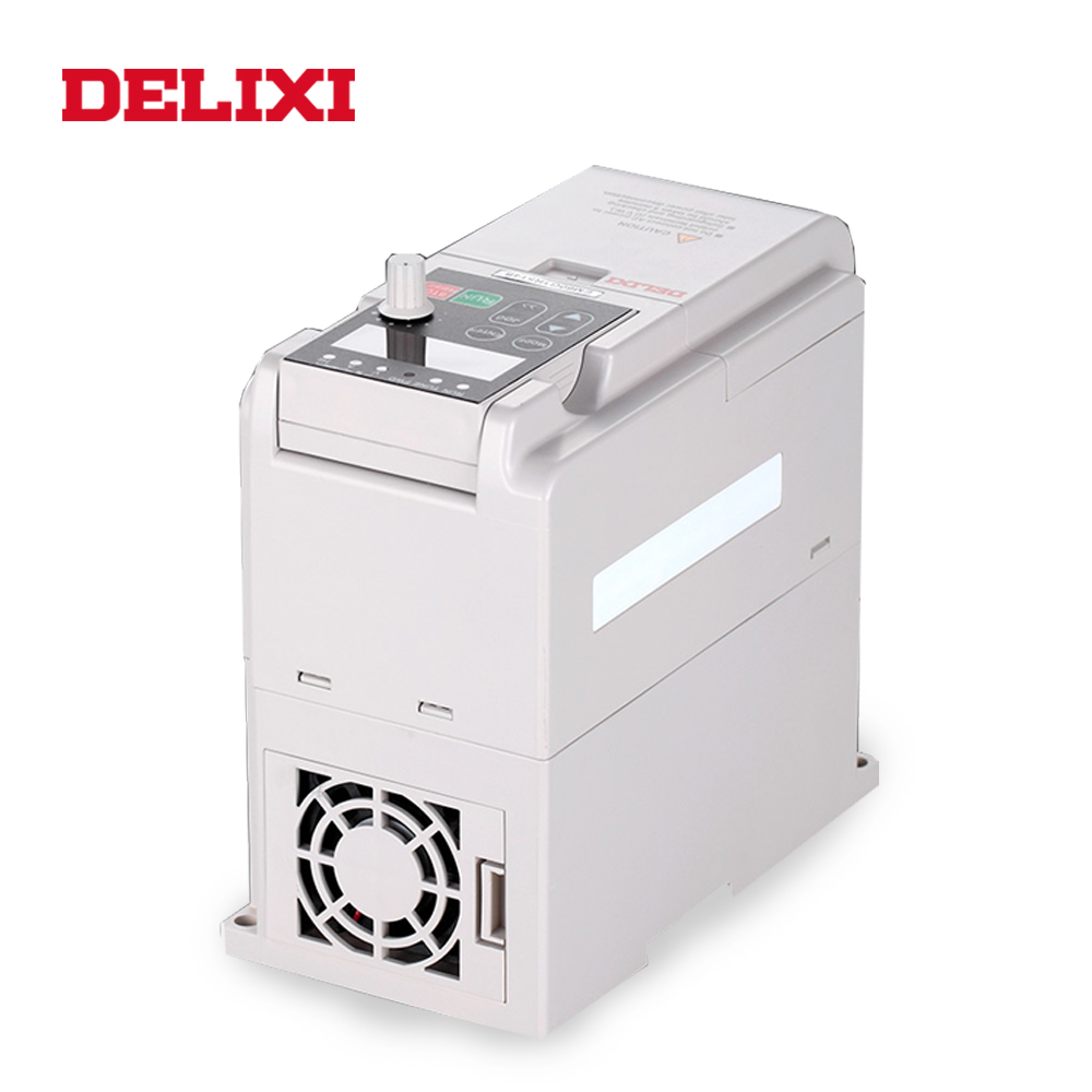 DELIXI AC 380V 3.7KW 3 phase input frequency inverter drives VFD for motor Speed Control 50HZ 60HZ DC frequency converter