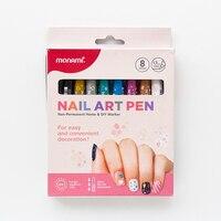 Monami مسمار الفن القلم لتقوم بها بنفسك ماركر مسمار الكتابة على الجدران القلم 8 ألوان مانيكير ماركر مشرق النفط الماكياج
