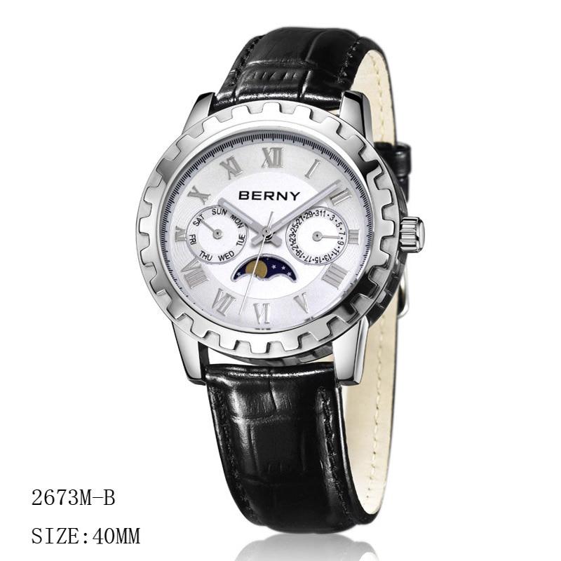 Berny Men Saat Kvars Mens Saatları Moda Ən Lüks Brend Relogio Saat - Kişi saatları - Fotoqrafiya 2