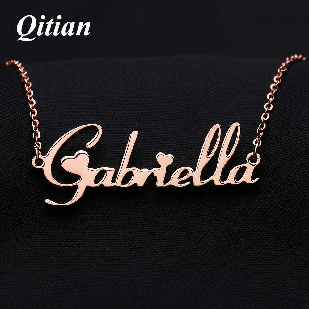 99770878c49e3 Customized Font Name Charm Necklace Personalized Custom Handwriting ...