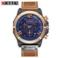 Fashion Style CURREN Mens Watches Top Brand Luxury Leather Quartz Watch Chronograph Luminous Sport Men Wrist