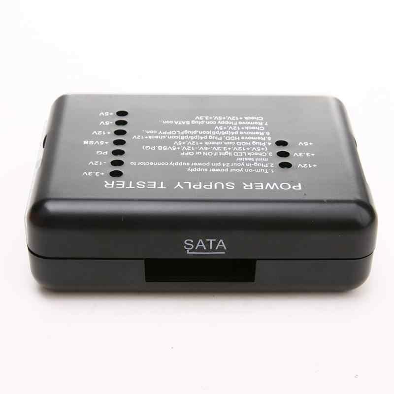 Электрический тестер Checker светодиодный 20/24 Pin для PSU ATX SATA HDD тестер разъема контрольно-измерительный прибор измерения для ПК компьютер новый