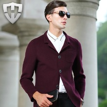 MWAMI High Quality 2015 Men Double-sided 70% Wool Warm Super Slim Business Gentleman Wedding Groom Formal Suits Blazers Jackets