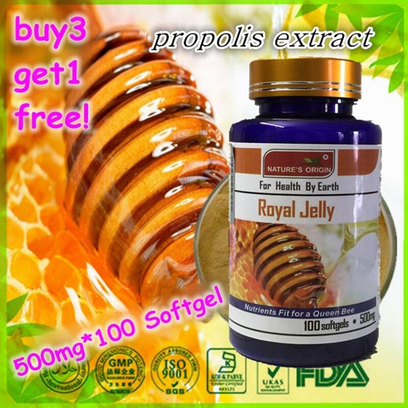 ФОТО (Buy 3 Get 1 Free)Genuine Royal Jelly softgel capsule 100 (lyophilized) high levels of royal jelly capsules enhance immunity