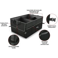 Black Collapsible Car Trunk Organizer Truck Cargo Portable Tools Folding Storage Bag Case Space Saving Auto
