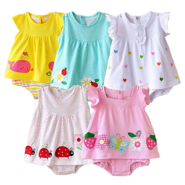 af1406df7 2018 Baby Rompers Summer Baby Girls Clothing Sets Cute Newborn Baby ...
