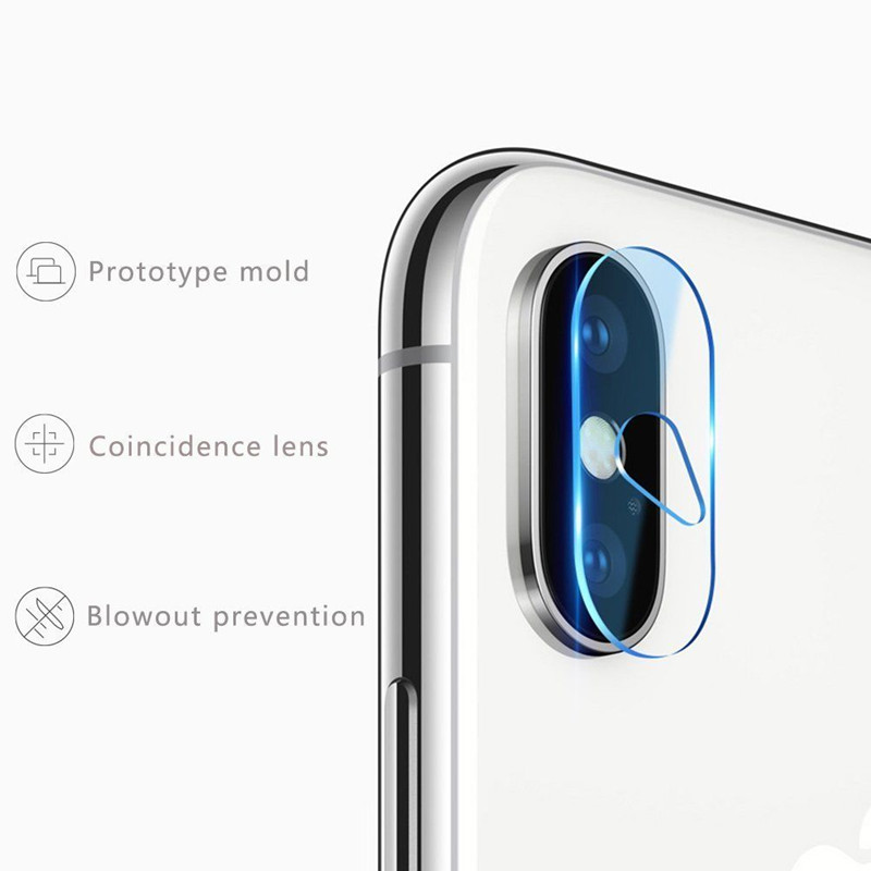 Back Rear Camera Lens Fiberglass Films Drop water hole design Flexible Soft Tempered Glass Screen Protector For iphone X 10pcs