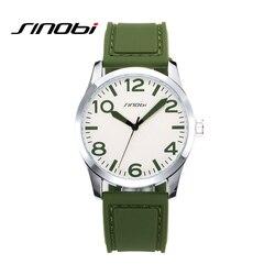 SINOBI Vintage Sport Men Quartz Watch Leisure Rubber Band Wrist Watch Men Analog Clock 2019 Relogio Masculino #9553