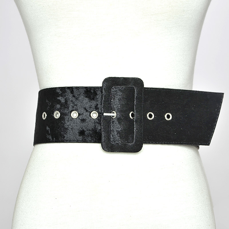 """S44 3/"""" WIDE GOLD BRAIDED LEATHER AND ELASTIC FASHION BELT FOR LADIES"""