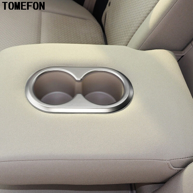 For Honda <font><b>CRV</b></font> CR-V 2012 2013 2014 2015 ABS Matte Inner Rear <font><b>Seat</b></font> Cup Holder Cover Water Bottle Placement Car Styling 1piece