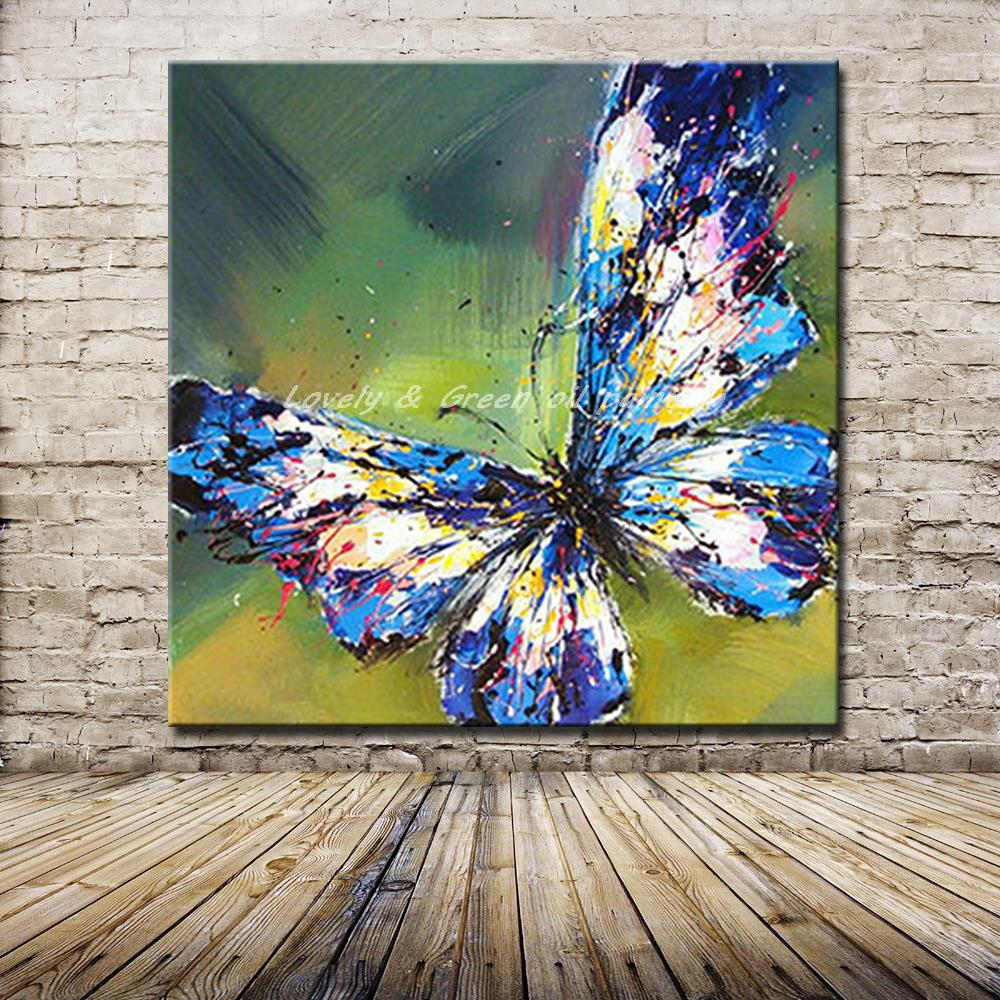 Blue Butterfly Painting Detailed