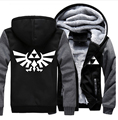 USA size Men Women The Legend of Zelda Coat Zipper Hoodie Winter Fleece Unisex Thicken Jacket Sweatshirts Clothing
