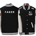 HOT!!Game LOL Faker SKT1 S6 Team Uniform WAR Finals lol player fleece baseball jacket in stock free shipping NEW
