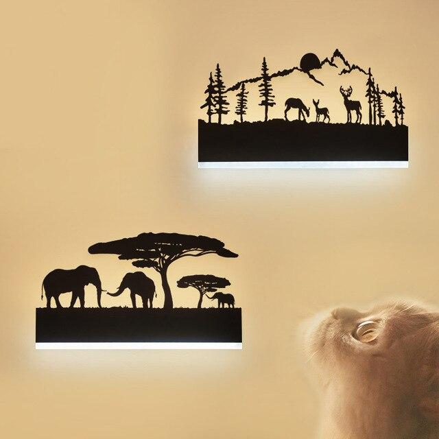 TUDA 38X23cm Free Shipping Modern Creative Iron Art Wall Lamp ...